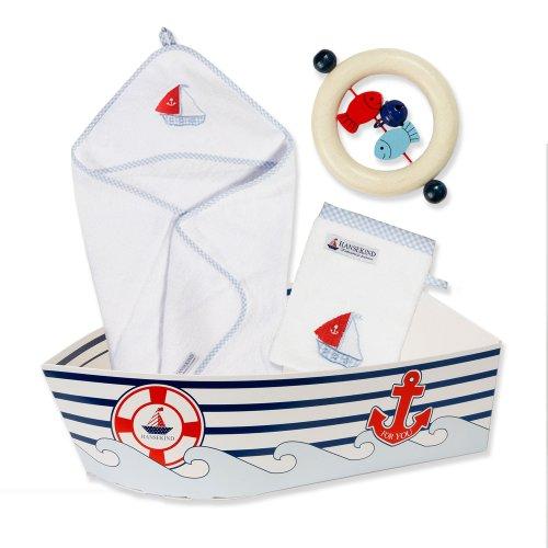 Hansekind G-13011 Geschenkeset Boot, blau