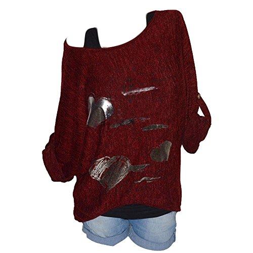 (Tops SANFASHION Damen Sweatshirt O-Neck Long Sleeves Druck Plus Size lose Bluse Casual T Shirt)