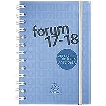 Forum Linicolor DIN A5 Schülerkalender 2017/2018: Schülerkalender A5 mit Doppelspirale & Gummizug