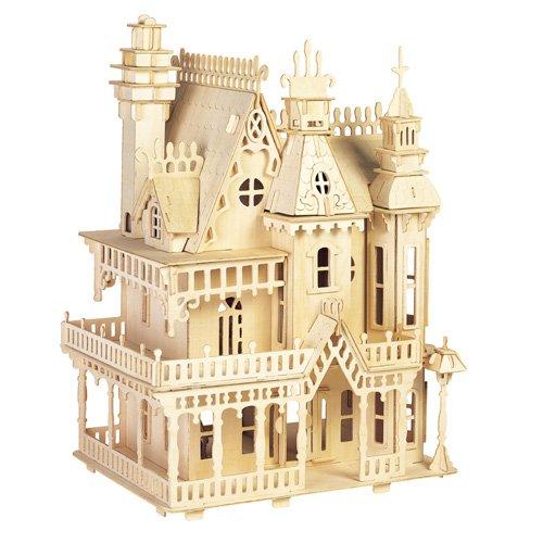 ETNA Ilawa Fantasia Villa 3D Holzbausatz Puppenhaus Holz Steckpuzzle Holzpuzzle Kinder DH004