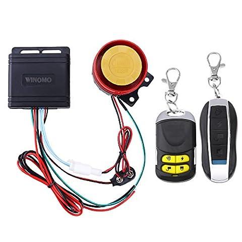 WINOMO Motorrad Alarm System Anti Diebstahl Sicherheitssystem mit doppelter Fernbedienung 12v