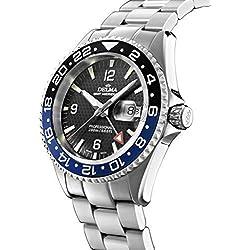 Swiss Sport Watch–Delma Men's Watch–GMT Meridian, Diameter 43mm, Black