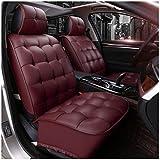 Coprisedili e accessori comfort Color : Red MLMHLMR Coprisedile coprisedili Quattro Stagioni Compatibile con airbag Protezione sedili Anteriori e Posteriori Impermeabili 5 posti Completi in Pelle Universale Coprisedile per Auto