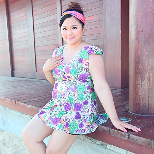 XL-übergewichtige Menschen kleiden einteilige Bikini-Badeanzug 5XL Farbe 7
