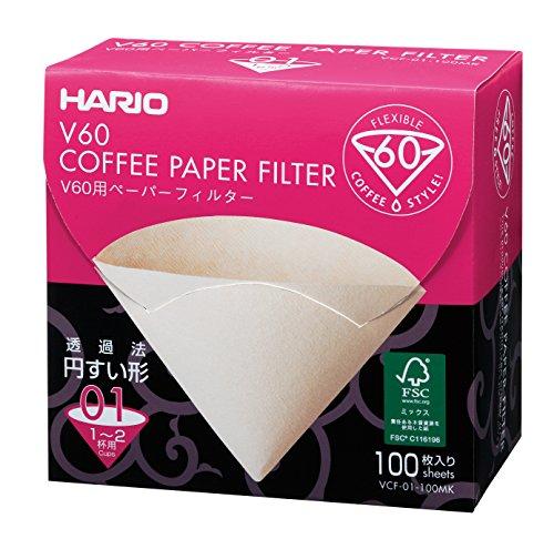 Hario 100 Blatt boxed VCF-01-100MK 1-2 Tassen V60 f?r Papierfilter M (Japan-Import)