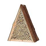 Gardigo Bienenhaus | Nisthilfe für Bienen aus Holz | Insektenhotel | Zum Aufhängen | Bienenhotel aus Naturmaterialien | Deutscher Hersteller
