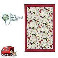 RHS Ulster Weavers 100% Linen Tea Towel Sweet Pea 48 x 74cm Crimson Cream 000SWP