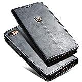 iPhone 7/8 Lederhülle,iPhone 8 Hülle,Roreikes Flip Case Schutzhülle Premium PU Leder Brieftasche Handytasche Handyhülle Magnetverschluss mit Integrierten Kartensteckplätzen und Ständer für Iphone 7/8