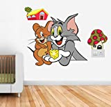 #1: Happy Walls 'Tom and Jerry' Wall Sticker Cartoon Wall Decals/Wall Mural
