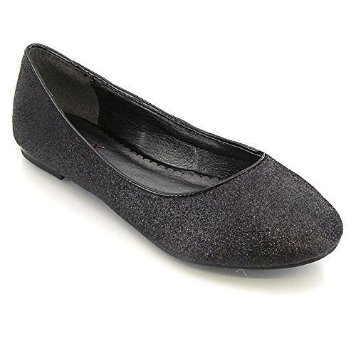 Essex Glam ,  Ballerine donna Black Glitter