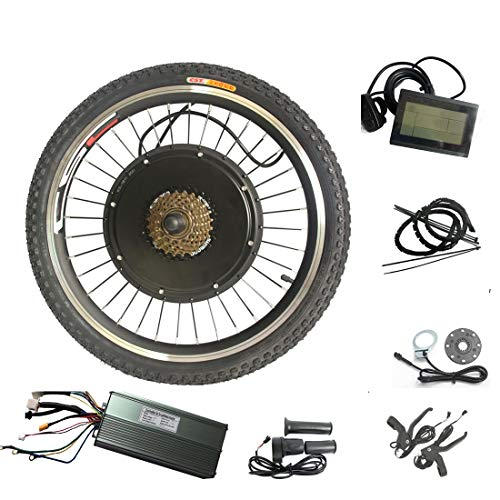 WENHU 29 Pulgadas 500W-Kit de conversión de Bicicleta eléctrica Kit de conversión de Motor de Rueda Trasera Ebike