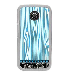 Fiobs Designer Back Case Cover for Motorola Moto E :: Motorola Moto E XT1021 (Blue Multipattern Design Kala)