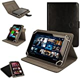 TECHGEAR® [Cosmic (8)] Universal Case for Bush MyTablet 8 Inch Tablet - 360 Degree Rotating & Detachable Holder Case with Viewing stand (BLACK)