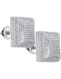 576b831f9a03 Jewels by Lux - Pendientes de plata de ley para hombre