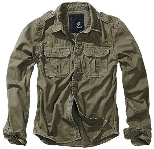 Brandit Vintage Shirt Longsleeve Oliv L