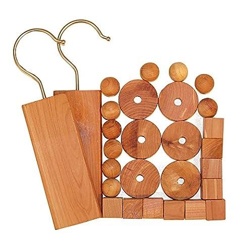 H & L Russel en bois de cèdre, Lot de 28