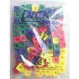 Cubes à emboîter avec longueur d'arête de 1,7cm. Chaque face est emboîtable. Disponibles en 2couleurs (rouge et bleu), 4couleurs (rouge, bleu, jaune et vert) ou 5couleurs (rouge, bleu, jaune, vert et blanc).