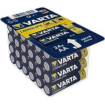 Varta 4106301124 Longlife Batteria Alcalina, Stilo AA LR06, Confezione da 24 Pile Big Box Confezione risparmio - il design può variare