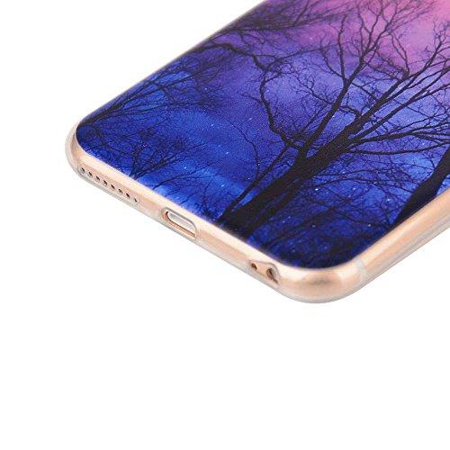 """Transparente iPhone 6S Etui, Flexible TPU Ultra Fine Poids léger Joli Peinture Image - Animal éléphant - Coque Case Apple iPhone 6 Plus 6S Plus 5.5"""" Color-1"""