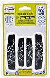 #10: ATZ -iPOP Door Guard-FLOWER with Original 3M tape (Black)