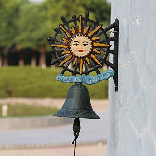 sungmor schwere Pflicht aus Gusseisen, zum Aufhängen Bell  Handgeführte Dekorative Tür Bell, Sonnenblume Wand montiert Bell, Garden & Home & Store & Outdoor Dekorationen (Sonnenblumen-bell)