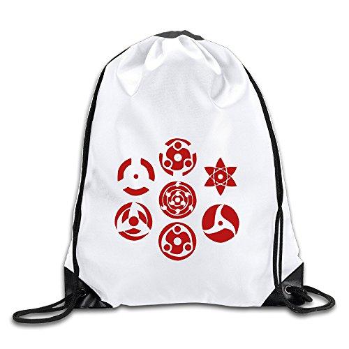 (Hunson – Cool Sharingan Set von 7 Pins Sporttasche Turnbeutel für Männer und Frauen Sackpack)