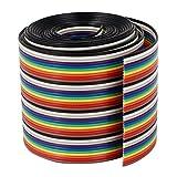 VIPMOON 40PIN Cavo Dupont Tagliere Ponticello Kit di Cavi a Nastro 1M 1.17mm 40PIN Dupont Wire