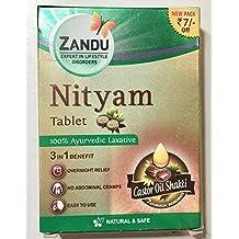 zandu nityam Tablets 12 tabletas para Gas acidez flatulencia Digestión ...