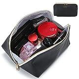 Lifewit Wasserdichte Kosmetiktasche Multifunktionale Handtasche aus PU von hoher Qualität Reise Kulturbeutel Make-up Organizer für Kosmetika & Toilettenartikel, Schwarz