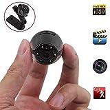 Mini cámara, Camara Espia Spy Cam Mini Camara Oculta HD 12MP 1080PQ Full HD,mini cámara ip, cámara de movimiento con detección de movimiento y visión