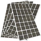 250 x Filzgleiter | 20x20 mm | Braun | rund | selbstklebende Möbelgleiter in Top-Qualität von Adsamm®