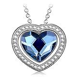 Alex Perry Collier Femme cœur collier argent 925 femme collier en zircone cubique...
