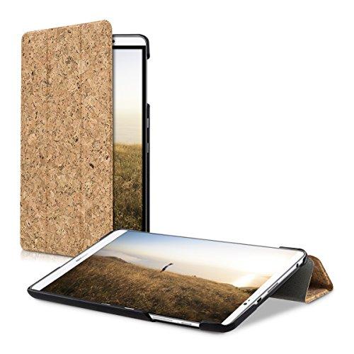 kwmobile Kork Smart Cover für Huawei MediaPad M2 8.0 Hellbraun mit Ständer