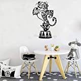 TYLPK Classy roll Cartoon tiger wandaufkleber Vinyl Niedlichen Tier aufkleber für wohnzimmer...