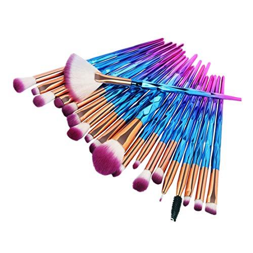 20 PCs Make Up Pinsel Set Pinselset Kosmetikpinsel Schminkpinsel Set Augenpinsel Foundation pinsel...