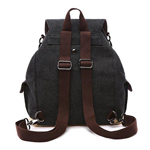 9c533b5325 ... Outreo Zaino Donna Borsa Ragazza Vintage Bag Laptop Backpack Per  Studenti Borsello Scuola Università Casual Borse