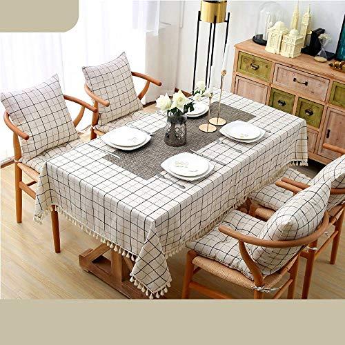 Bove Nappe résistant à l'eau, Coton et Lin Art Décoration nappes ménagères pour Tables rectangulaires-Un-140x180Cm(55x71Pouces)