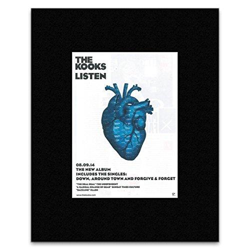 KOOKS - Listen Matted Mini Poster - 28.5x21cm