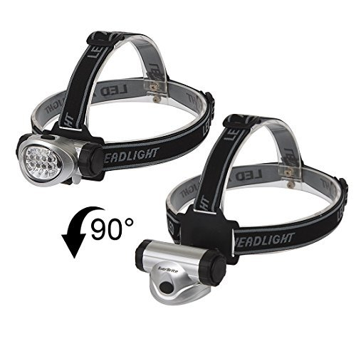 Ndier 2-Pack Stirnlampe für Laufen, Camping, Lesen, Angeln, Jagd, Wandern, Jogging, leicht, leicht