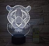 Lifme Lion Tiger Rc Fernbedienung Touch Touch 3D Decor Usb Lampe Kinder Spielzeug Geschenk Nachtlichter 7 Farben Blitz Ändern Led Nachtlicht
