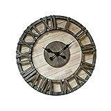 Kreative Wanduhr, Industriestil, Metall-Quarz-Uhr, Wohnzimmer-Bar-Café, Durchmesser 80 cm, 32 Zoll
