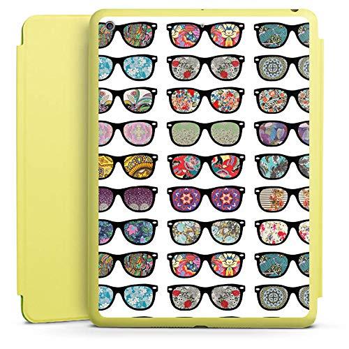 DeinDesign Smart Case Limette kompatibel mit Apple iPad 2017 Hülle mit Ständer Schutzhülle Glasses Brille Hipster