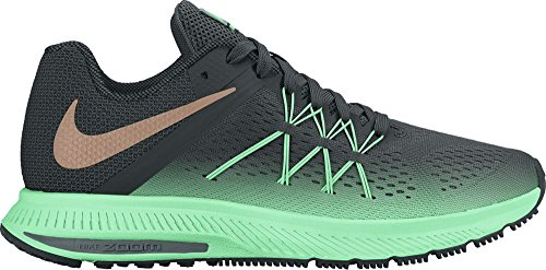 Nike 852444-300, Sneakers trail-running femme Vert
