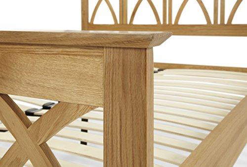 Maiden American White Oak Wood King Size Bed