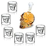 MVPOWER Verres à Whisky Design Tete de Mort 350ML en Verre Cristal Transparent,...