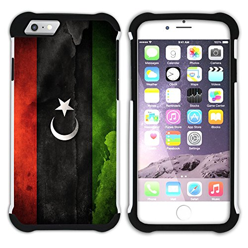 Graphic4You Vintage Uralt Flagge Von Afghanistan Afghane Design Hart + Weiche Kratzfeste Hülle Case Schale Tasche Schutzhülle für Apple iPhone 6 / 6S Libyen Libyer