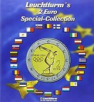 Album 'Euro-collection' pour les pièces de 2 Euro Album de collection en carton rigide imprimé comportant 2 parties en mousse prédécoupées pour insérer 57 pièces de 2 Euro Livré avec un jeu d'étiquettes autocollantes représentant les drapeaux de tous...