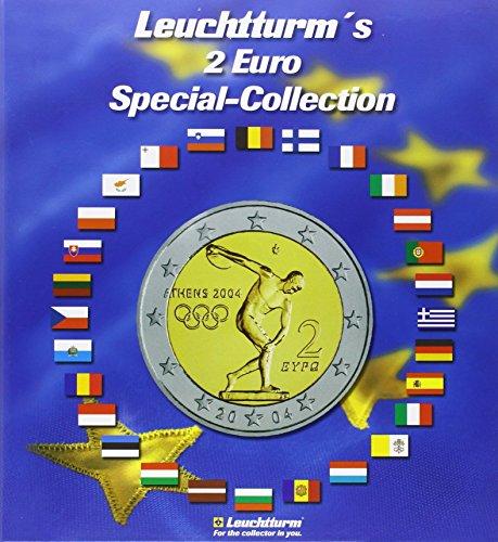 Leuchtturm 2-EUR (Euro) Special-Collection: für 57 2-EUR-Münzen inkl. Flaggen-Stickerset
