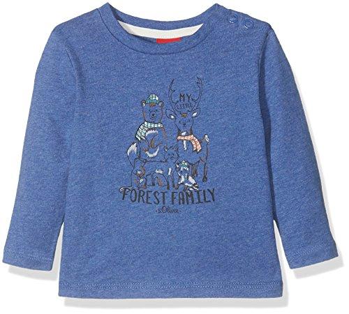 s.Oliver Baby-Jungen Langarmshirt 65.710.31.7554 Blau (Blue Melange 55W0), 92
