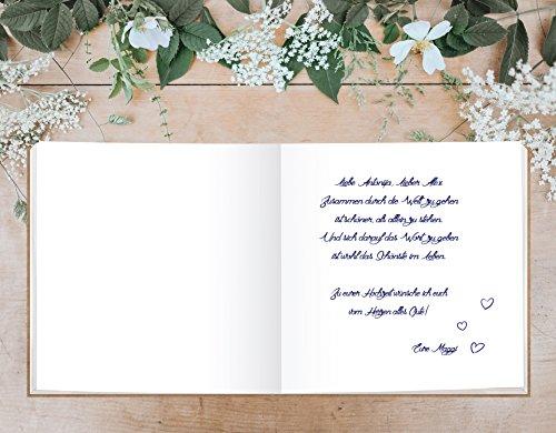 Sophies Kartenwelt Gästebuch Hochzeit - Goldfoliengeprägtes Hardcover / 144 weiße Seiten/Format: 21 x 21 cm/Hochzeitsgästebuch/Hochzeitsalbum/Hochzeitsgeschenk - 6